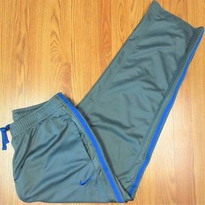 NIKE Mens POLYESTER ATHLETIC PANTS GRAY & BLUE